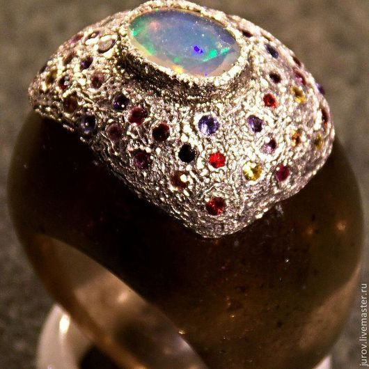 Кольца ручной работы. Ярмарка Мастеров - ручная работа. Купить феерия цвета. Handmade. Авторская ручная работа, кольцо с камнем