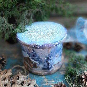 """Для дома и интерьера ручной работы. Ярмарка Мастеров - ручная работа """"Северное сияние"""" Короб для подарка. Шкатулка. Handmade."""