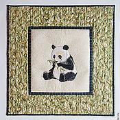 """Картины и панно ручной работы. Ярмарка Мастеров - ручная работа Панно """"Панда"""". Handmade."""