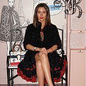 Одежда ручной работы. Ярмарка Мастеров - ручная работа Черное вязаное пальто из подиумной коллекции. Handmade.