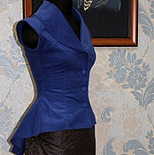 Одежда handmade. Livemaster - original item Womens vest in historic style. Handmade.
