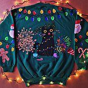 Сувениры и подарки handmade. Livemaster - original item New Year`s sweatshirt unisex. Handmade.