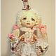 Коллекционные куклы ручной работы. Ярмарка Мастеров - ручная работа. Купить авторская кукла Коломбина Диана. Handmade. Бежевый