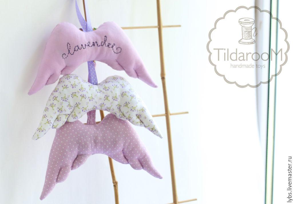 крылья ангела текстильные валентинки