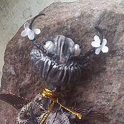 Украшения ручной работы. Ярмарка Мастеров - ручная работа Сеньор Сальвадор, брошь-персонаж из грунтованного текстиля. Handmade.