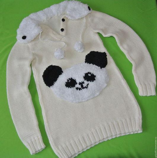 Одежда для девочек, ручной работы. Ярмарка Мастеров - ручная работа. Купить Платье панда. Handmade. Белый, платье туника