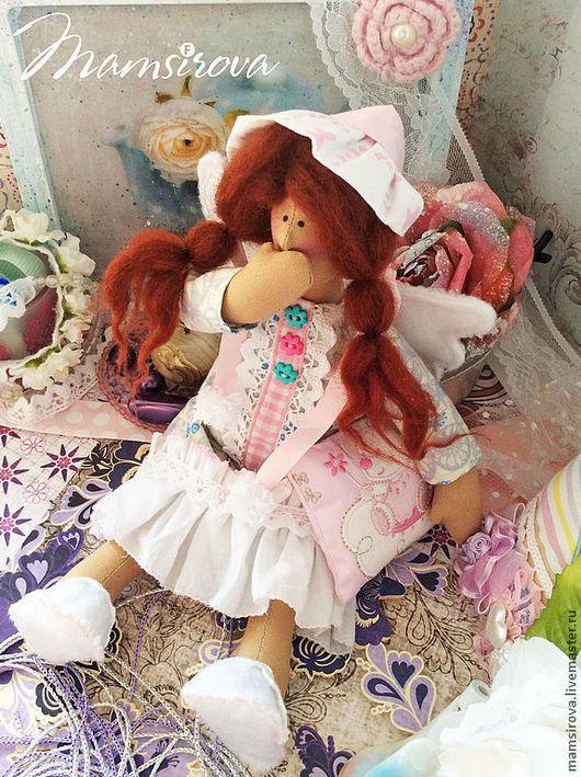 Куклы Тильды ручной работы. Ярмарка Мастеров - ручная работа. Купить Тильда-Ангел сна-Сплюшка. Handmade. Белый, кружева