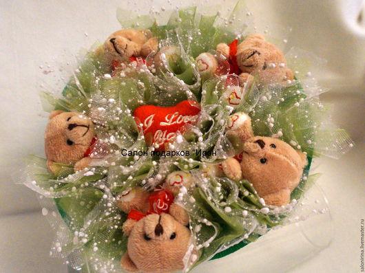 Букет `Валентинка`  Подарки ручной работы `Салон подарков ИрэН`