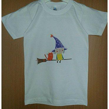 Одежда ручной работы. Ярмарка Мастеров - ручная работа Футболки: для девочек или мальчиков. Handmade.