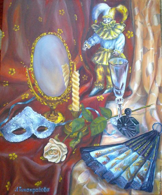 """Натюрморт ручной работы. Ярмарка Мастеров - ручная работа. Купить Натюрморт  """"Карнавал"""". Handmade. Комбинированный, натюрморт, натюрморт маслом, интерьер"""