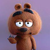 Куклы и игрушки ручной работы. Ярмарка Мастеров - ручная работа Медвежонок Маллой Бриклберри Brickleberry. Handmade.