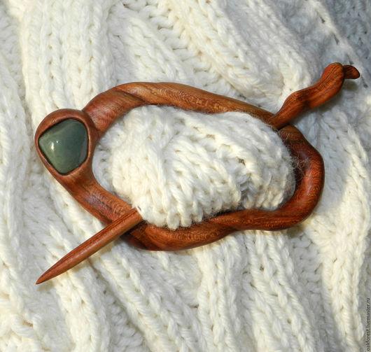 Заколки ручной работы. Ярмарка Мастеров - ручная работа. Купить Заколка для волос и вязаных изделий. Handmade. Заколка из дерева