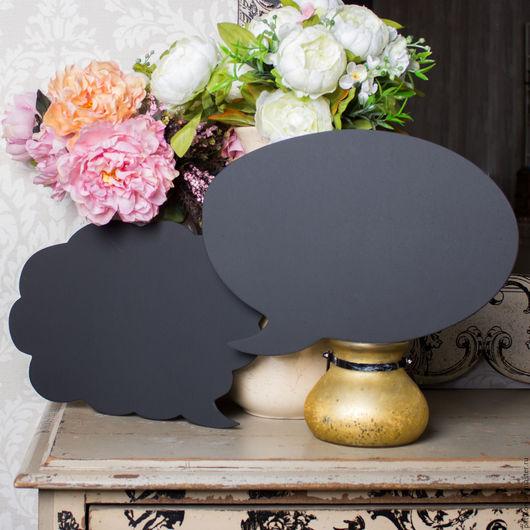 Речевое облачко отобразит мысли влюбленных или гостей во время фотосессии.