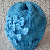 Работы для детей, ручной работы. Ярмарка Мастеров - ручная работа Мериносовая шапочка для девочки...весна.... Handmade.