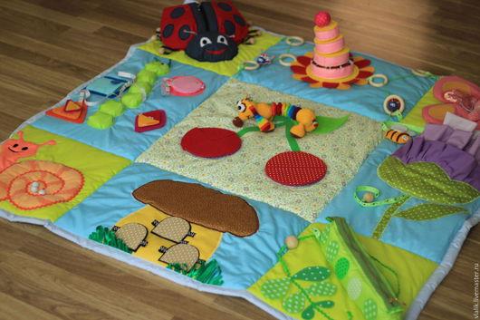 Развивающие игрушки ручной работы. Ярмарка Мастеров - ручная работа. Купить Развивающий коврик Яркое Лето-2. Handmade. краснодар