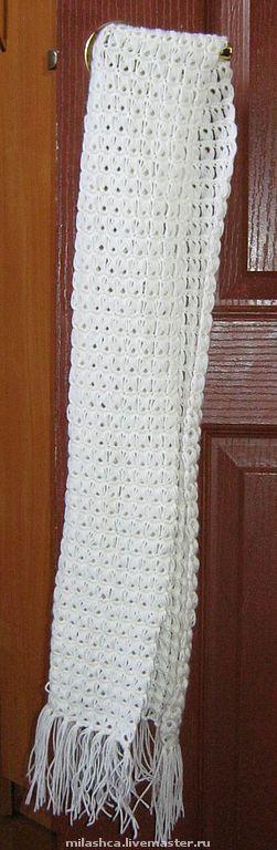 Комплекты аксессуаров ручной работы. Ярмарка Мастеров - ручная работа. Купить Воздушные ниточки. Handmade. Весенний шарф, 70% шерсть