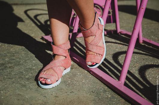 Обувь ручной работы. Ярмарка Мастеров - ручная работа. Купить Сандалии 10-312 (СБ). Handmade. Мода, летние сапоги