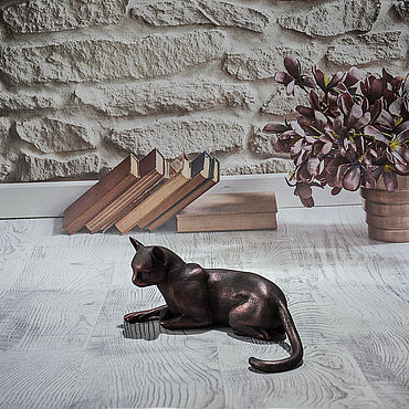 Для дома и интерьера ручной работы. Ярмарка Мастеров - ручная работа Статуэтки: кошки. Handmade.