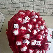 Букет из конфет рафаэлло Бордовый шик