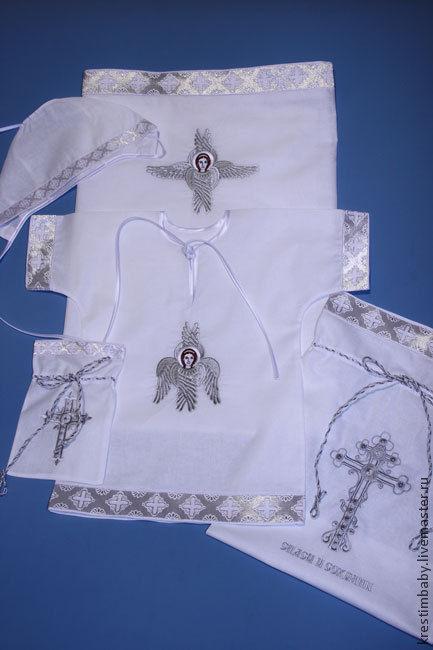 Baptism kit 'angel Seraphim' (silver), Christening set, Moscow,  Фото №1
