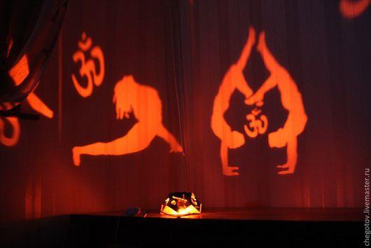 """Освещение ручной работы. Ярмарка Мастеров - ручная работа. Купить Самосвет """"Йога"""". Handmade. Рыжий, йога, свет"""