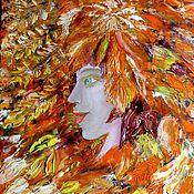"""Картины и панно ручной работы. Ярмарка Мастеров - ручная работа Картина """"Осень"""". Масло. Холст.. Handmade."""