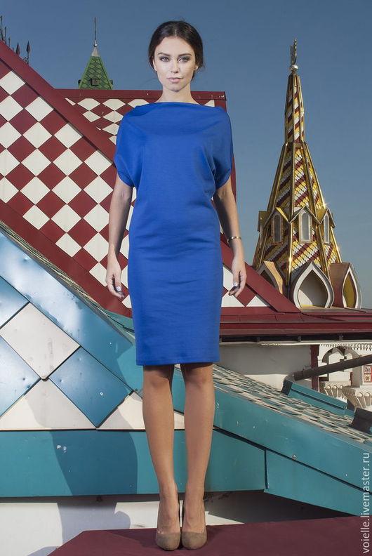 Платье трансформер женское из джерси вискоза хлопок, с рукавом летучая мышь свободного кроя, для нестандартной фигуры платье прямое миди повседневное