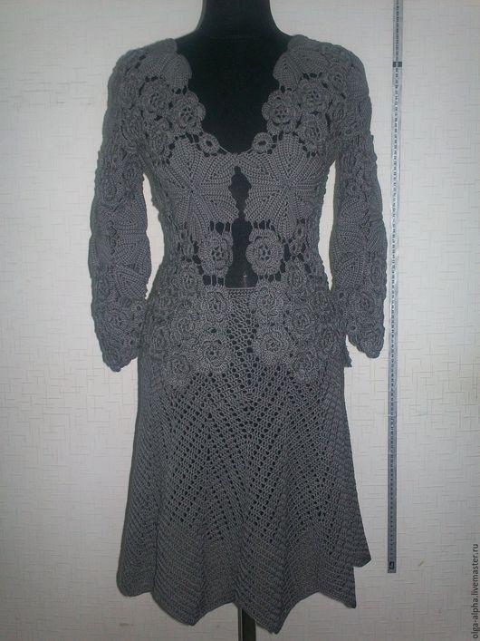 Костюмы ручной работы. Ярмарка Мастеров - ручная работа. Купить Серый костюм ирландия. Handmade. Серый, костюм крючком