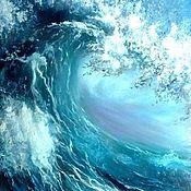 Картины и панно ручной работы. Ярмарка Мастеров - ручная работа Морская волна. Handmade.