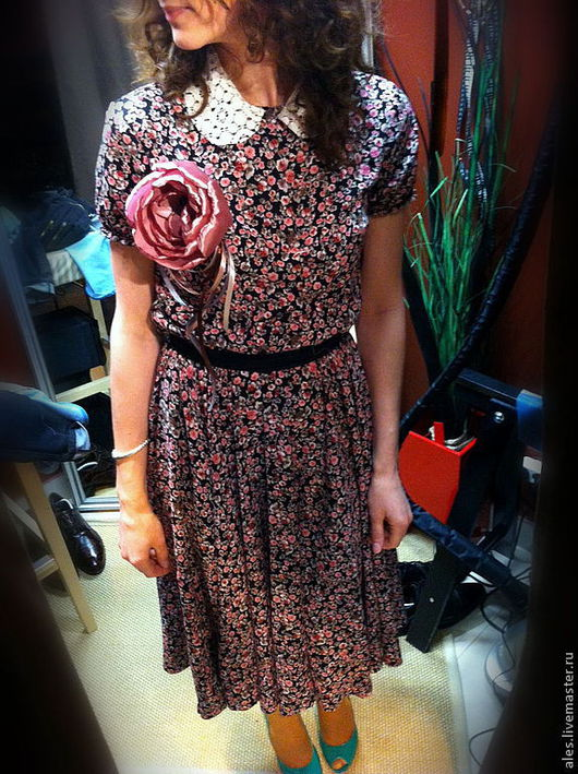 """Платья ручной работы. Ярмарка Мастеров - ручная работа. Купить Платье """"Нежный цветок"""". Handmade. Платье в ретро стиле"""