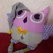 Мягкие игрушки ручной работы. Ярмарка Мастеров - ручная работа Игрушка подушка Совушка. Handmade.