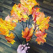 Цветы искусственные ручной работы. Ярмарка Мастеров - ручная работа Осенние листья. Handmade.