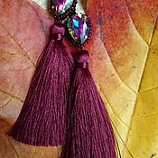"""Украшения ручной работы. Ярмарка Мастеров - ручная работа Серьги-кисти """"Осенний лес"""". Handmade."""