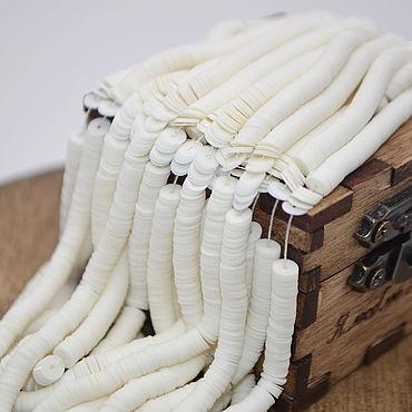 Материалы для творчества ручной работы. Ярмарка Мастеров - ручная работа 6001 Porcelaine плоские 4 мм. Пайетки Франция (Langlois-Martin LM). Handmade.