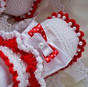 """Работы для детей, ручной работы. Ярмарка Мастеров - ручная работа Пинетки для девочки""""сладкая ягодка"""". Пинетки для новорожденной .. Handmade."""