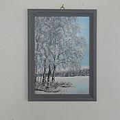Картины ручной работы. Ярмарка Мастеров - ручная работа Зимний пейзаж. Handmade.