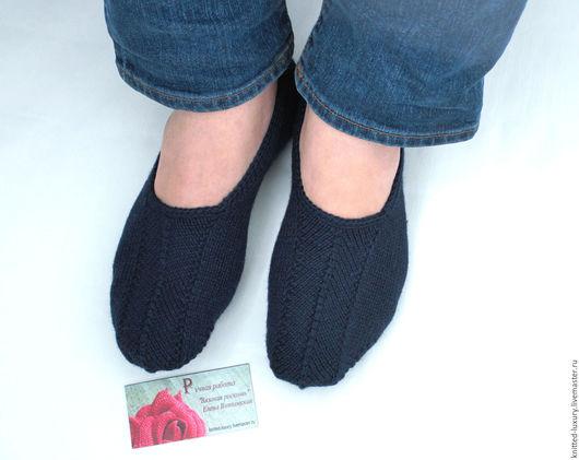 """Носки, Чулки ручной работы. Ярмарка Мастеров - ручная работа. Купить Мужские вязаные следки """"Мелодия"""" 100%шерсть носки вязанные. Handmade."""