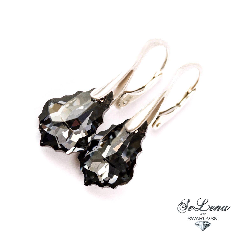 Swarovski silver earrings, Swarovski silver 925 earrings, Earrings, St. Petersburg,  Фото №1