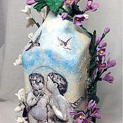 Посуда ручной работы. Ярмарка Мастеров - ручная работа Сирень и ангелы. Handmade.