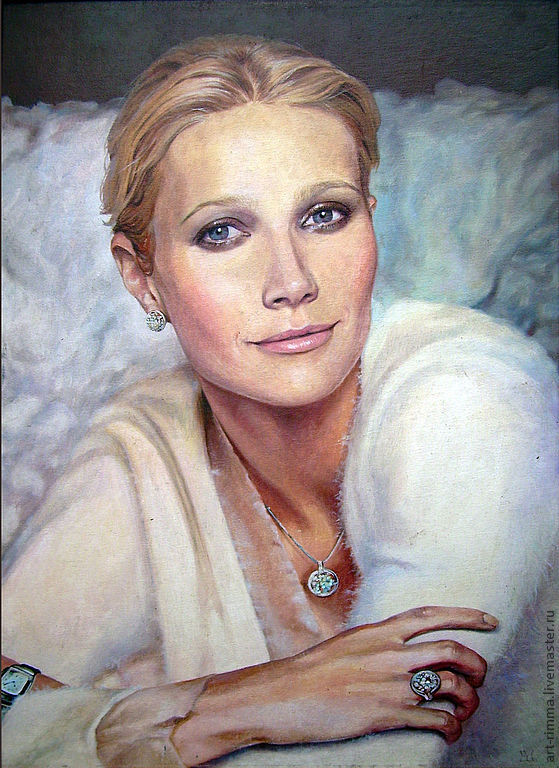 Portrait oil painting on canvas, Pictures, Moscow,  Фото №1