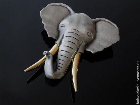 JJ Винтажная брошь  `Слон`.