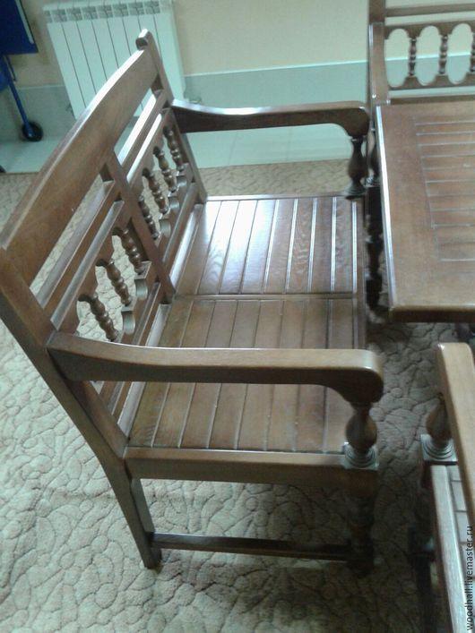 дубовый комплект мебели для сада дачи из массива дуба для дома, дачи, сауны