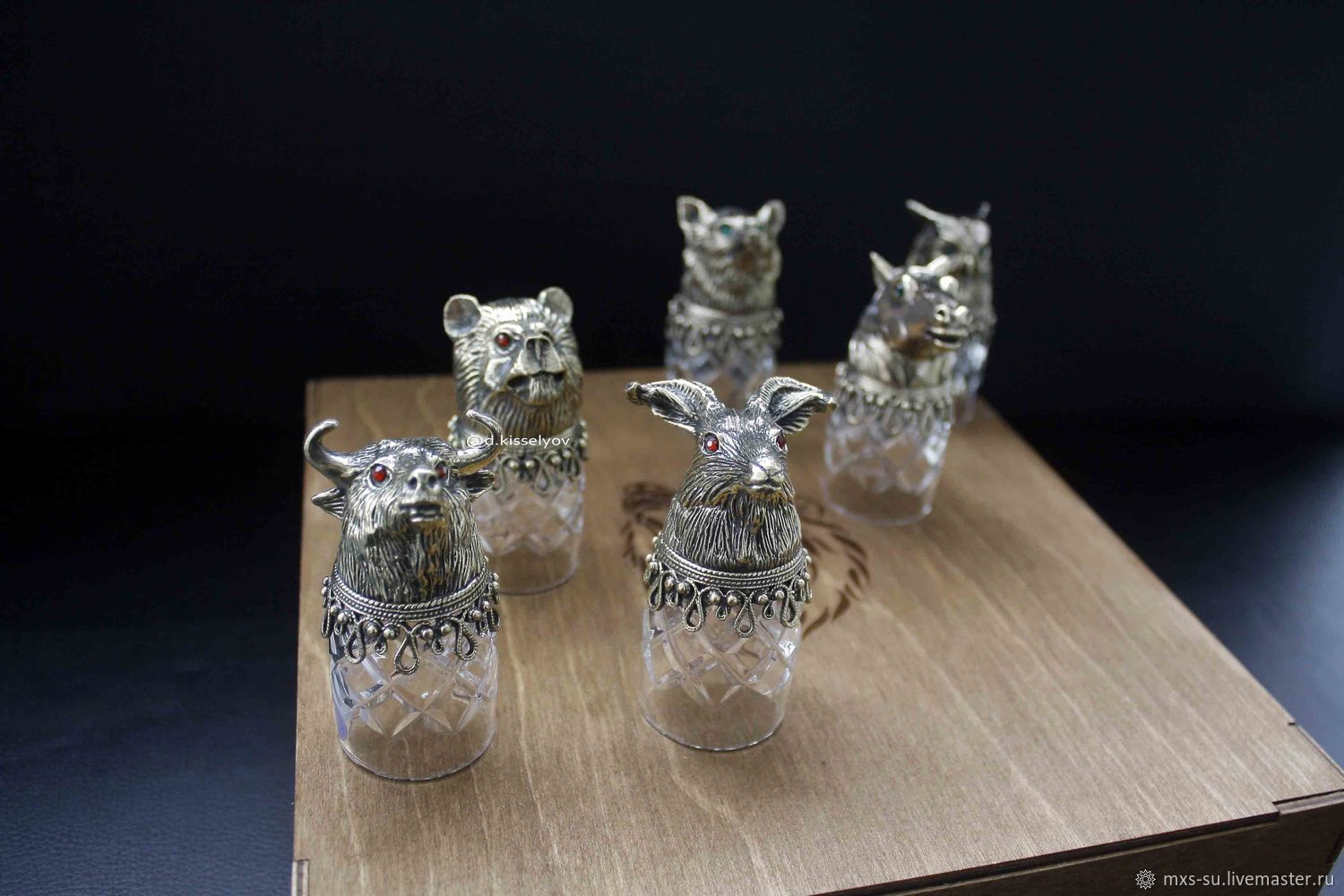 Hunting glasses (crystal), Gifts for hunters and fishers, Tyumen,  Фото №1