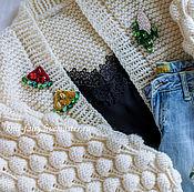 Одежда ручной работы. Ярмарка Мастеров - ручная работа Объемный кардиган оверсайз. Handmade.