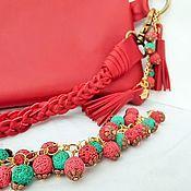 Сумки и аксессуары handmade. Livemaster - original item Leather clutch hand bracelet