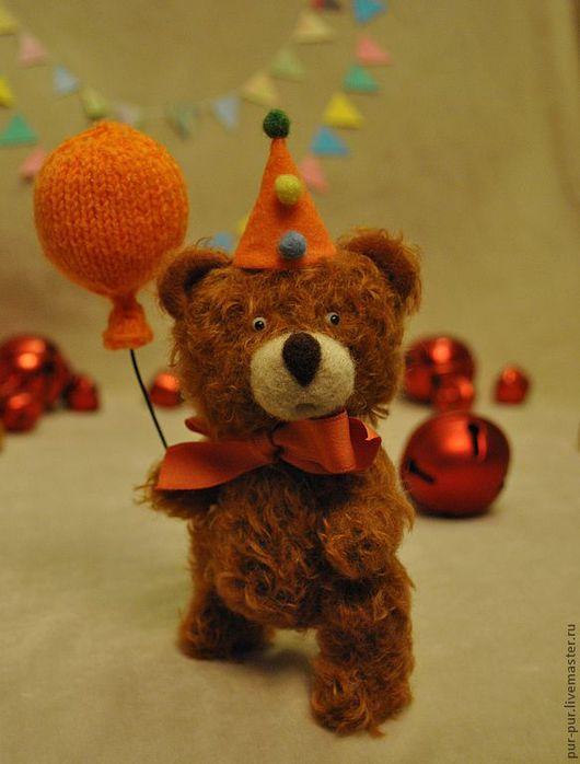 Мишки Тедди ручной работы. Ярмарка Мастеров - ручная работа. Купить Маленький клоун Бон Бон (РЕЗЕРВ). Handmade. Рыжий