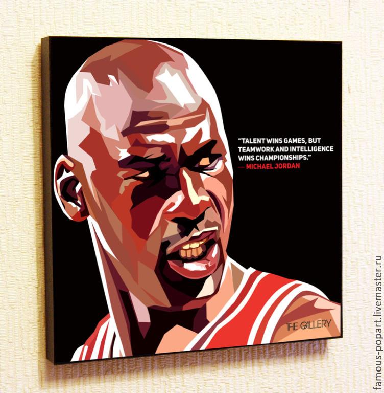 Painting poster Pop Art Michael Jordan, Fine art photographs, Moscow,  Фото №1