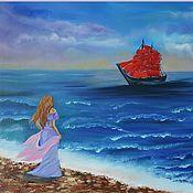 Картины и панно handmade. Livemaster - original item Oil painting Scarlet sails. Handmade.