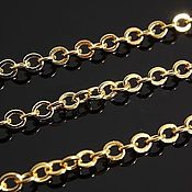 Материалы для творчества handmade. Livemaster - original item Chain 2,1h2,5 mm, art. 5-2, gold plated, 50 cm. South Korea. Handmade.