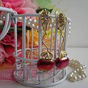 Украшения handmade. Livemaster - original item Earrings PARADISE APPLE. Handmade.